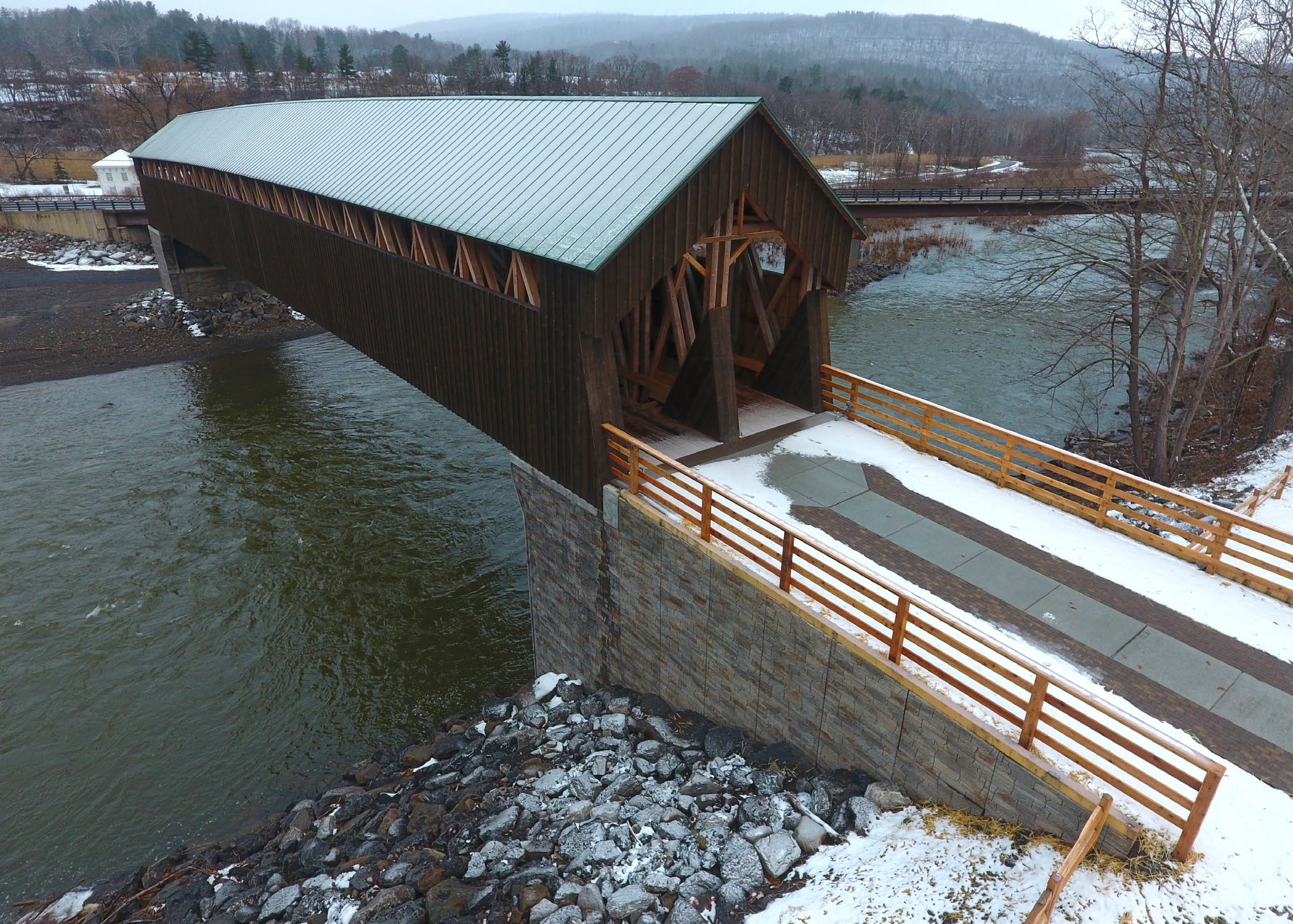 Completed Blenheim Covered Bridge